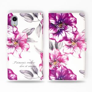 Button Flowers Wallet Case for iPhone