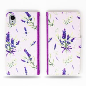 Lavender Flowers Wallet Case for iPhone